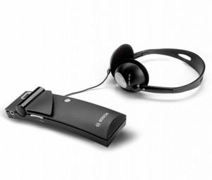 博世接收器和立体声轻便耳机